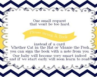 Please Bring A Book insert card