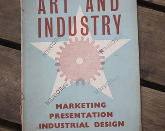 "Book ""Art And Industry"" July 1937 vintage"
