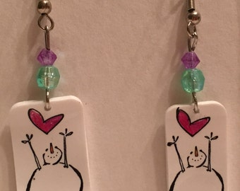 Shrinky dink earrings