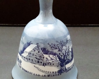 Glass Bell, Currier and Ives Scene - The Home in Winter by Price