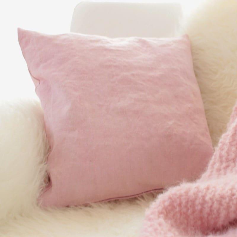 linen pillows pillow case pale pink throw pillow pink. Black Bedroom Furniture Sets. Home Design Ideas