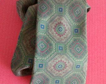 Vintage green/brown silk tie