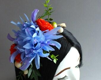 Sunrise Chrysanthemum Flower Crowns (Quarter Sized; Flower Girl Style)