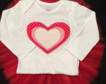 HEART shirt and classic tutu set