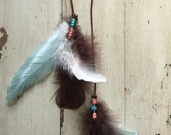 Feather Hair Clip / Hair Clip / Tribal Hair Clip / Boho Hairstyle / Gypsy Hair Clip / Festival Hair / Costume Hair Clip