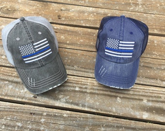 Back the Blue ~ Police and Law Enforcement Trucker Hat ~ All Lives Matter