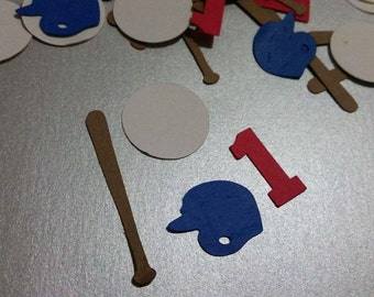 Baseball Confetti, Baseball party confetti, With number or letter of choice.