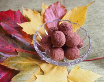 Chocolate truffles with caramel centre 150g