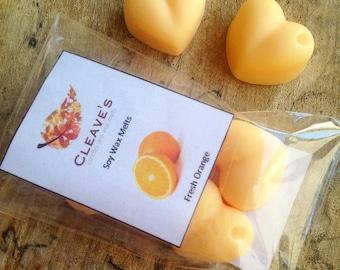Fresh Orange Scented Soy Wax Melts