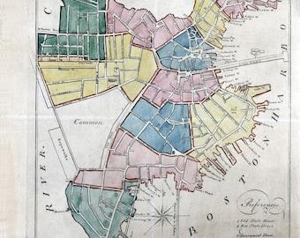 1805 Map of Boston Massachusetts