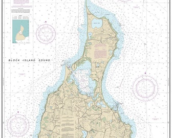 2013 Nautical Map of Block Island Rhode Island