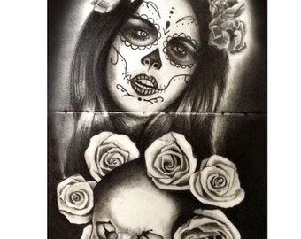 Catrina in black and white