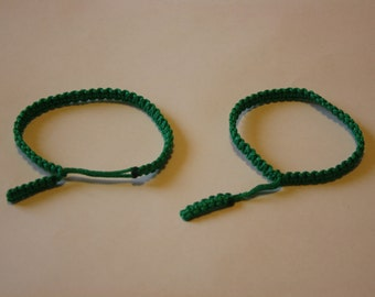 green adjustable braceiets