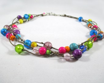 Necklace with murano glass beads