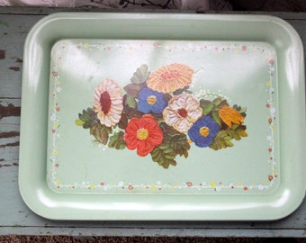 Mid Century Metal Serving Tray or Magnet Board
