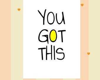 Good Luck Card! You got this!