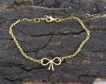 Wrist loop gold bridesmaids maid of honor