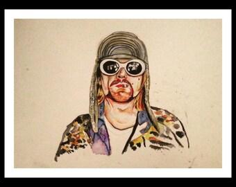 Kurt Cobain Original Watercolor Print