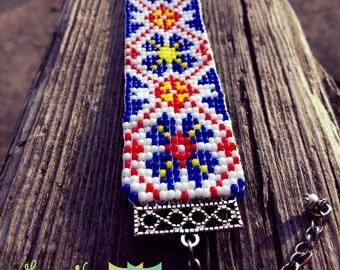 Ethnic Bracelet With Ukrainian Ornament