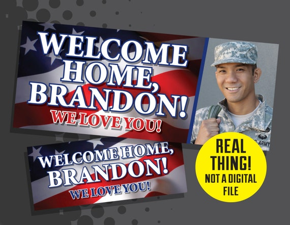 welcome home banner military welcome home banner large