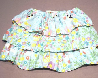 ADJUSTABLE Easter Skirt-Easter Baby to Toddler Skirt-Girl's Easter Spring Skirt-Girl Ruffle Skirt-3,6,9,12,18,24 mo,2T,3T skirt-Grow with Me