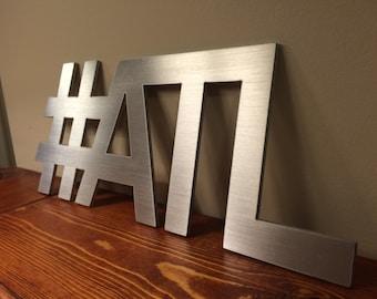 Hashtag ATL Atlanta Wall Decor Art