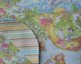Nursery Rhymes - Baby Receiving Swaddling Cuddle Blanket, Choose Your Option - Flannel - Extra Large Size