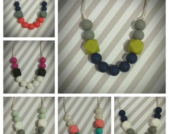 Silicone Teething/Nursing Necklace