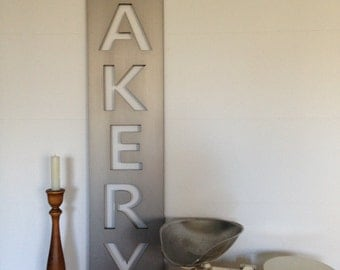 BAKERY METAL SIGN