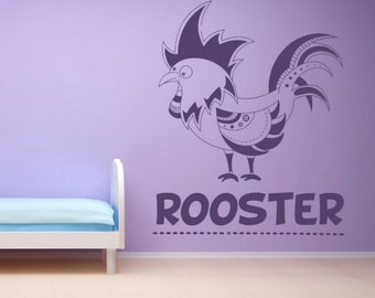 Rooster Wall Decal Etsy