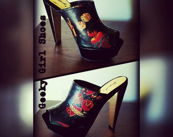 Black Tattoo theme shoes