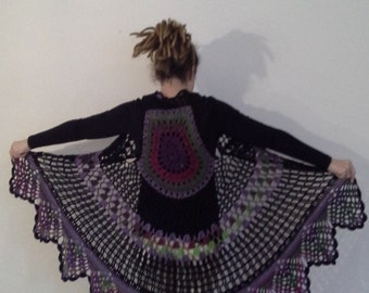 Crochet vest with mandala