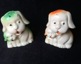 Japanese Dog and Puppy S&P Shakers