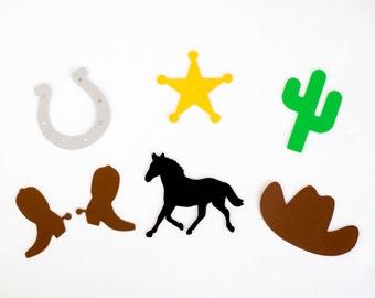 Cowboy die cuts, Cowgirl die cuts