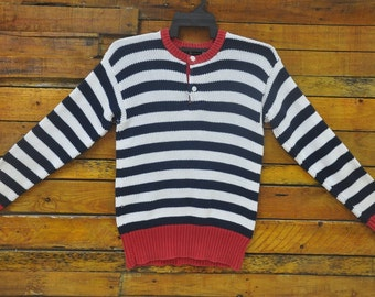 Rare Vintage RALPH LAUREN Striped Knit Sweater Sweatshirt,Size S,Polo Ralph Lauren Striped,Streetwear,Knitwear,Hip Hop,90s Swag,Skate,Rap