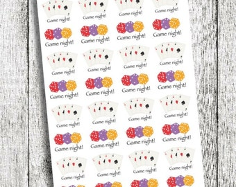 Game Night Planner Stickers
