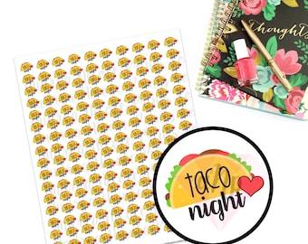 Printable Taco Night Planner Stickers for ECLP MAMBI Filofax