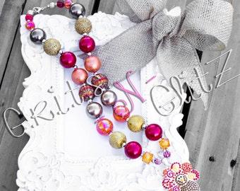 Thanksgiving Turkey Bubblegum Necklace