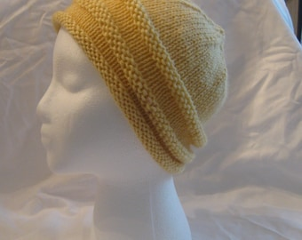 Yellow Rolled Brim hat