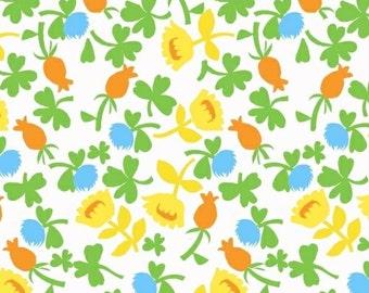 Briar Rose Jersey KNIT Fabric | Yellow Flowers | Yardage | Heather Ross for Windham Fabrics