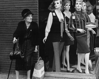 Old Lady and the Mannequins, NYC 1969