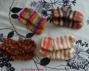 12/18 months crochet baby socks
