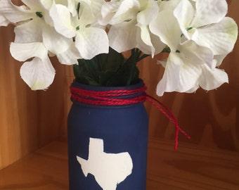 Texas shape painted jar