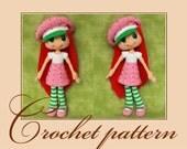 Strawberry Shortcake-Amigurumi Crochet Pattern PDF file by Anna Sadovskaya