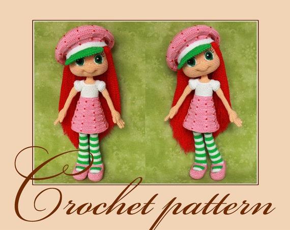 Amigurumi Strawberry Doll Pattern : Strawberry Shortcake Amigurumi Crochet Pattern PDF file by