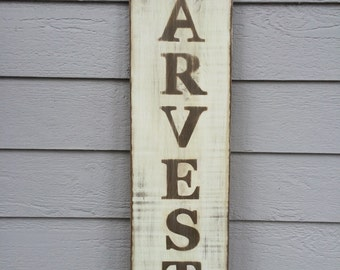 Wooden Harvest Sign