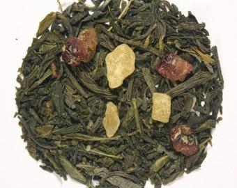 Cranberry & Mango Loose Leaf Green Tea (50 grams)