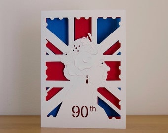 HRH Queen Elizabeth Birthday Card