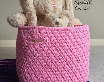 Crochet Basket Pink