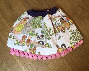 Rock skirt fairy tale 98 104 110 Vintage Retro Oldschool 70er 70s
